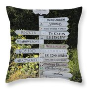 Winery Street Sign In The Sonoma California Wine Country 5d24601 Square Throw Pillow