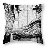Wing It Bw Throw Pillow