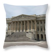 Wing Of The Capitol - Washington Dc  Throw Pillow