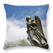 Winged Angel Throw Pillow by Jennifer Ancker