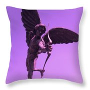 Winged Archer Eros Throw Pillow