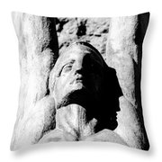 Winged Face Throw Pillow