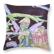 Winged Fantasy  Throw Pillow