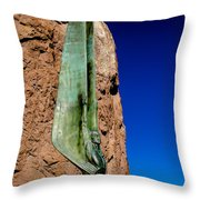 Winged Figure Profile Throw Pillow