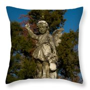 Winged Girl 12 Throw Pillow