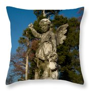 Winged Girl 13 Throw Pillow
