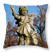 Winged Girl 3 Throw Pillow