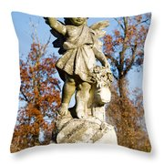 Winged Girl 5 Throw Pillow