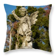 Winged Girl 8 Throw Pillow