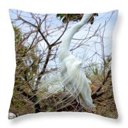 Winged Grace 2 Throw Pillow