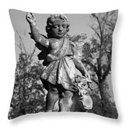 Winged Gril 7 Throw Pillow