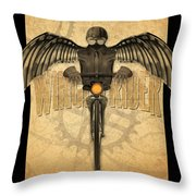 Winged Rider Throw Pillow