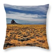 Winged Rock Throw Pillow