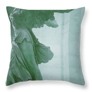 Winged Victory Of Samothrace Statue At The Louvre Museum        Throw Pillow