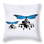 Wingin It - Blue Throw Pillow