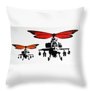 Wingin' It - Orange Throw Pillow