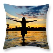 Wings Throw Pillow by Laura Fasulo