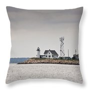 Wings Neck Light House Throw Pillow