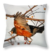 Wings Of A Robin Throw Pillow