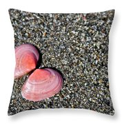 Pink Wings Throw Pillow