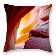 Wink In Lower Antelope Canyon In Page-arizona Throw Pillow