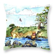 Imagining The Hunny  After E  H Shepard Throw Pillow