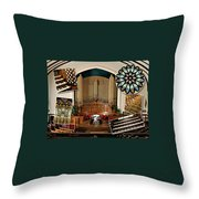 Winnipeg Church Montage Throw Pillow