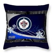 Winnipeg Jets Christmas Throw Pillow