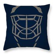 Winnipeg Jets Goalie Mask Throw Pillow