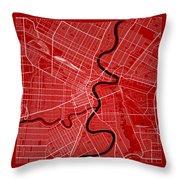 Winnipeg Street Map - Winnipeg Canada Road Map Art On Color Throw Pillow