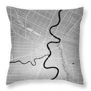 Winnipeg Street Map - Winnipeg Canada Road Map Art On Colored Ba Throw Pillow