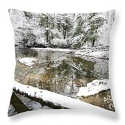 Winter Along Cranberry River Throw Pillow by Thomas R Fletcher