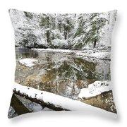 Winter Along Cranberry River Throw Pillow