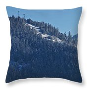 Winter And Mt Baldy Panorama Throw Pillow