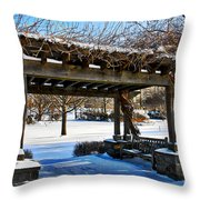 Winter Arbor Throw Pillow