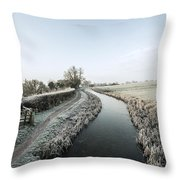 Winter At Ayshford  Throw Pillow