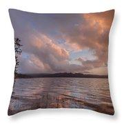 Winter At Big Lagoon Throw Pillow