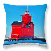 Winter At Big Red Throw Pillow