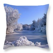 Winter At Lake Marmo Throw Pillow