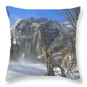 Winter At Loch Vale 2 Throw Pillow