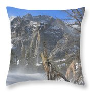 Winter At Loch Vale 3 Throw Pillow
