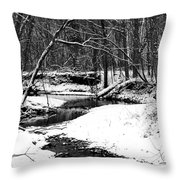 Winter At Pedelo Black And White Throw Pillow