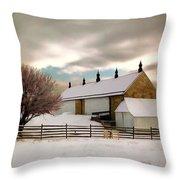 Winter At Piper Barn Anteitam National Battleground Throw Pillow