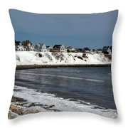 Winter At The Coast Throw Pillow