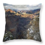 Winter At The Grand Canyon Throw Pillow