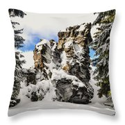 Winter At The Stony Summit Throw Pillow