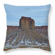 Winter Banded Butte Throw Pillow