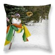 Winter Baseball Ball Gown  Throw Pillow