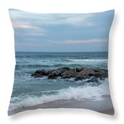 Winter Beach Day Lavallette New Jersey Throw Pillow