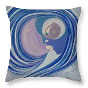 Winter Breath Throw Pillow